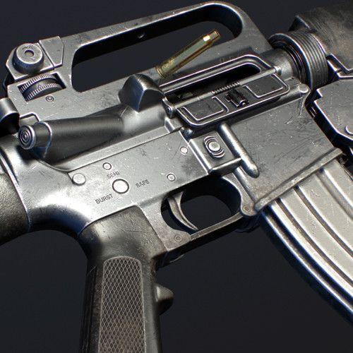 M16A2 with M203 grenade launcher, Christian Henkel on ArtStation at https://www.artstation.com/artwork/DBOER