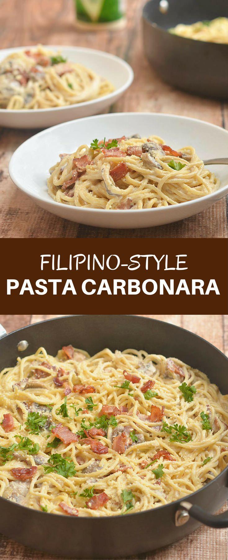 Filipino-style Pasta Carbonara