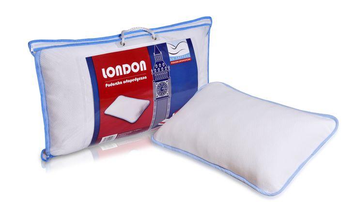 Poduszka ortopedyczna z pianki z pamięcią z wypełnieniem w formie frytki! Idealna do spania we wszystkich 3 pozycjach  London! A memory foam pillow with memory in the form of fries. Perfect for sleeping in all 3 positions!