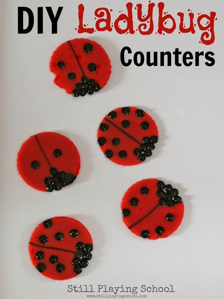 Still Playing School: Ladybug Doubles Addition: DIY Math Game