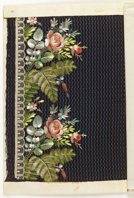 Embroidery Sample, 1790–1800. Be still my beating heart!
