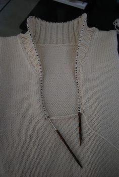 Mi marido es un hilado Viudo: Cuello Pullover mantón