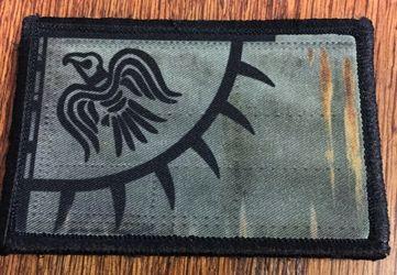 Viking Blackbird Sun Banner Armor Morale Patch Blackbird, Sun Odin, Viking, Raven, Banner, Armor, Flag, Ragnar Lothbrook, Vikings, Lief Ericskson, Pirate, Morale Patch, Velcro