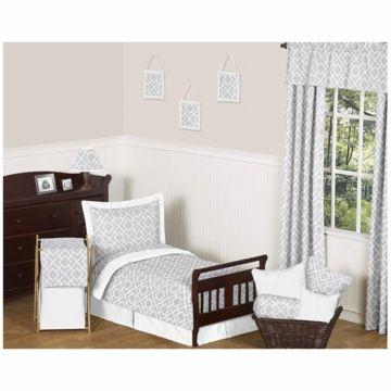 nuetral set jojo designs diamond gray u0026 white 5 piece toddler bedding set