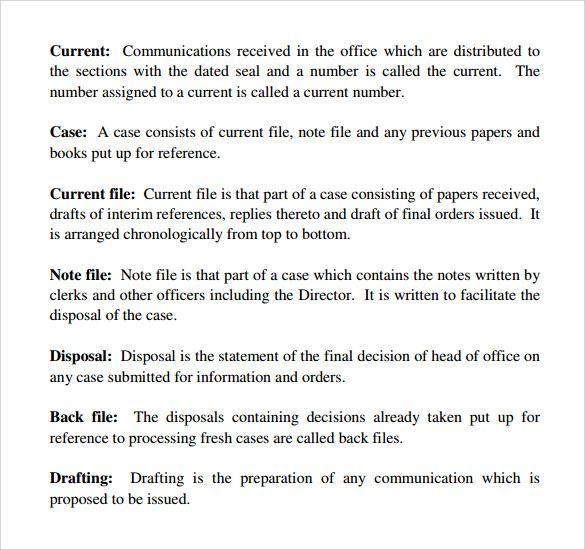 Office Manual Templates Templates