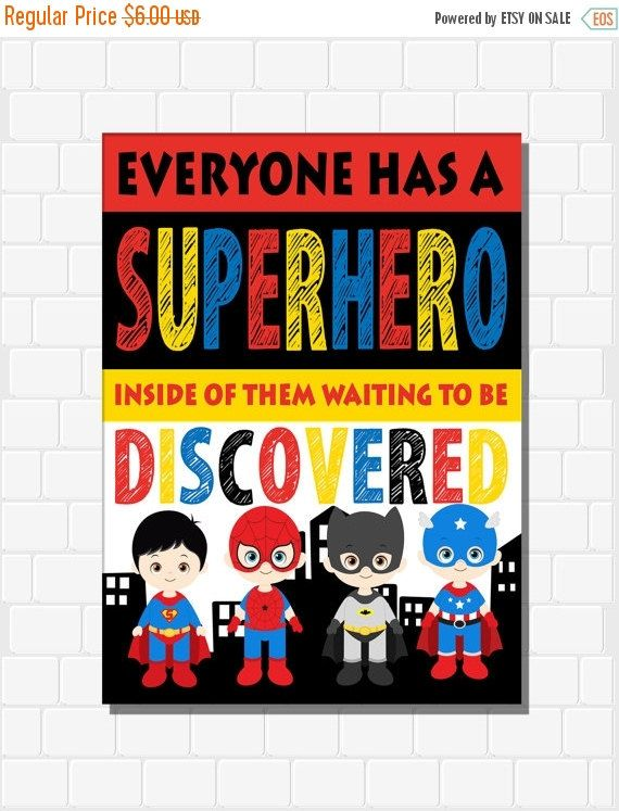 On Sale Superhero Decor Superhero Classroom By CottageArtShoppe
