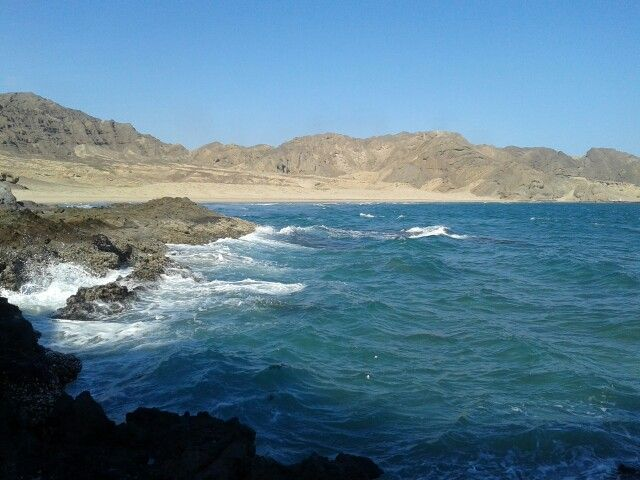 beautiful beach in Aden, Yemen.