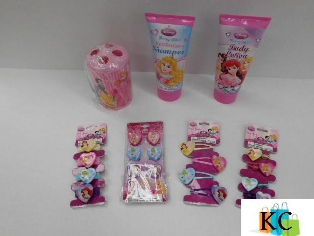 Princess Gift Pack Tooth brush holder, Body lotion, shampoo, Hair ties x2, Hair Clips. $51.10 Layby Welcome on All Sets.. $10 per week