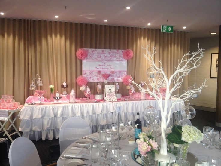 Double Pink and White Wedding Lolly Bar