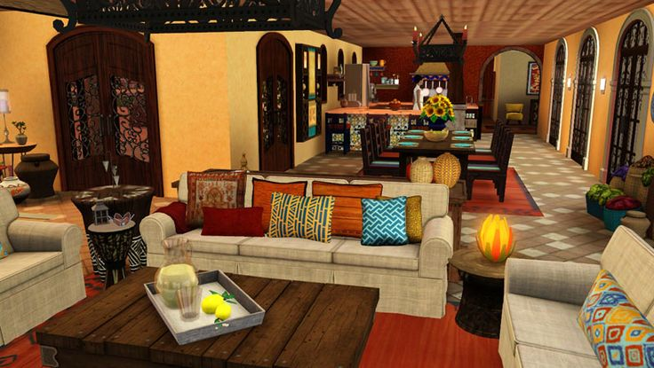 Mexican decorated living room google search mexican for Mexican inspired living room ideas