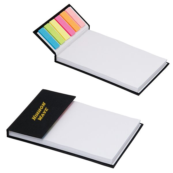 Memopad With Sticky Notes (From $2.35) - With 80 sheets and 150 sticky notes, you'll NEVER run out of either! Until you've gone through the 80/150 of each, respectively. Convenient for jotting down quick notes and flagging important ideas. We said flagging, not flogging.