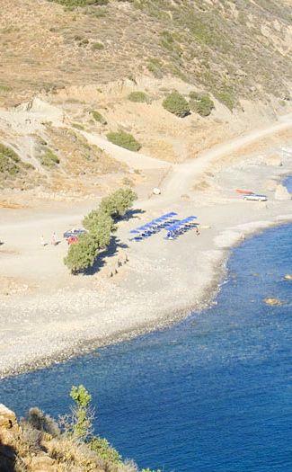 Ammoudi Beach in Plakias, Rethymno, Crete.