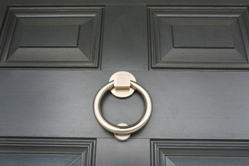 Brushed steel knocker