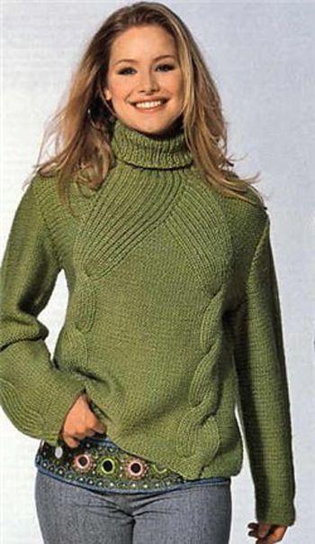 Женский свитер вязание спицами Вязание спицами,рукоделие на 2Узора.  Схемы вязания и модели.  Советы по вязанию.