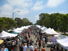 Carlsbad Village Street Faire - It's the largest street festival of its kind in the country. If you happened to be in our fair city you should not miss this! It happens twice a year once in the Spring and again in the Fall.