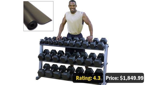 5-70 lbs Heavy Duty Dumbbell Set with Rack (Free shipping)