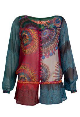 Blusa Desigual Alexa Multicolorida - Compre Agora   Dafiti