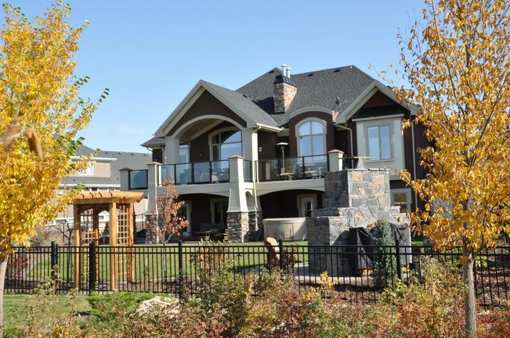 The back of this house looks as great as the front. www.cooperscrossing.ca #coopersairdrie