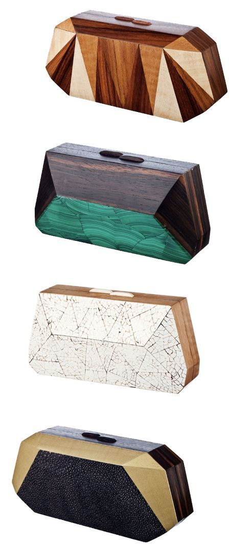 Wooden clutches by Nada Sawaya.  Didn't know whether to pin this under art or style!  Love them