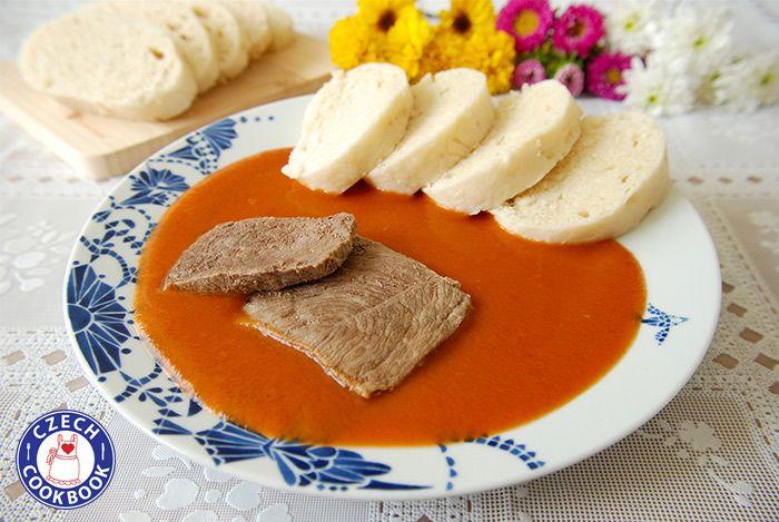 Tsjechische Cookbook - Video Recepten in het Engels - US Metingen - US Ingredients | Rundvlees met zoete tomatensaus Recept - Rajska Omáčka