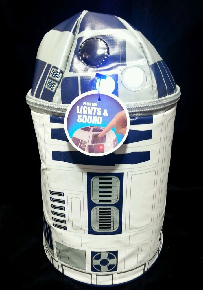 Star Wars Disney R2D2 Sound Star Thermos Insulated Lunch Bag w/ Light and Sound in Collectibles, Pinbacks, Bobbles, Lunchboxes, Lunchboxes, Thermoses | eBay