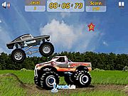 Crazy Mustang Flash Game. Trample over cars, rocks, steep hills and big trucks, without smashing your own truck. Play Fun Monster Trucks Games Online.