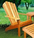 Adirondack Chair Wood Project Plan This design is a classic for sitting back and relaxing. The Adirondack Chair will fit in perfectly on any deck. #diy #woodcraftpatterns