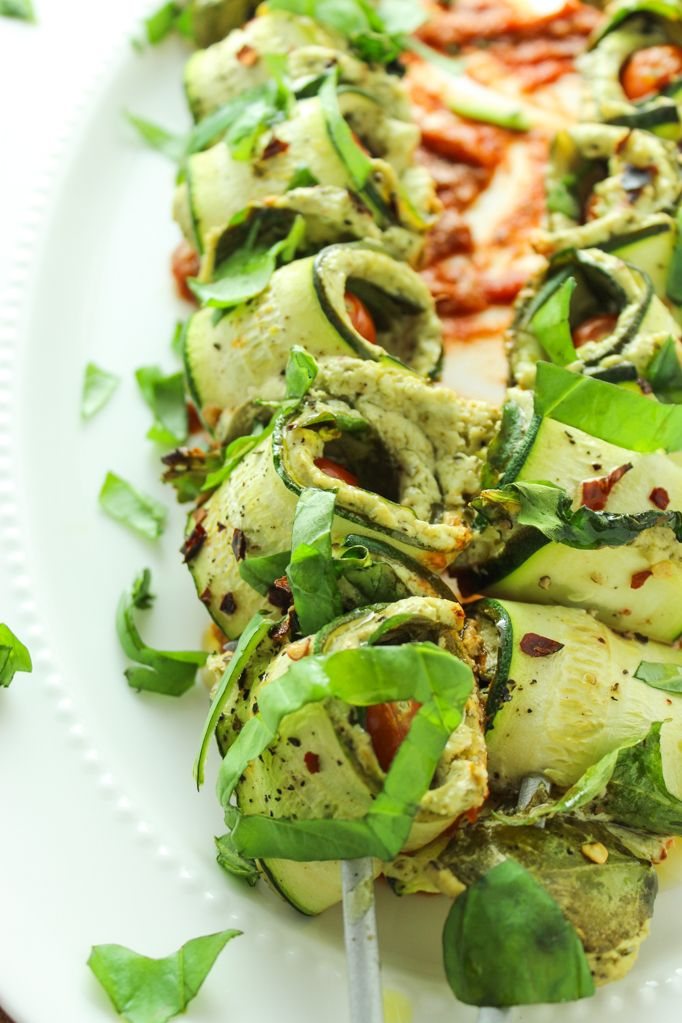 Pesto and Goat Cheese Stuffed Zucchini Roll Ups-6