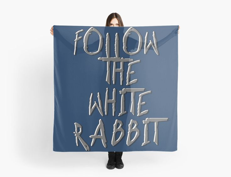 Follow the white rabbit... by cool-shirts  Also Available as T-Shirts & #Hoodies, Men's #Apparels, Women's Apparels, #Stickers, #iPhone #Cases, #Samsung #Galaxy Cases, #Posters, #Home Decors, #Tote #Bags, #Pouches, #Art #Prints, #Cards, Mini #Skirts, #Scarves, #iPad Cases, #Laptop #Skins, Drawstring Bags, Laptop #Sleeves, #tapestries and #Stationeries