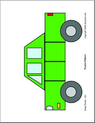 Shape Puzzle Car Color