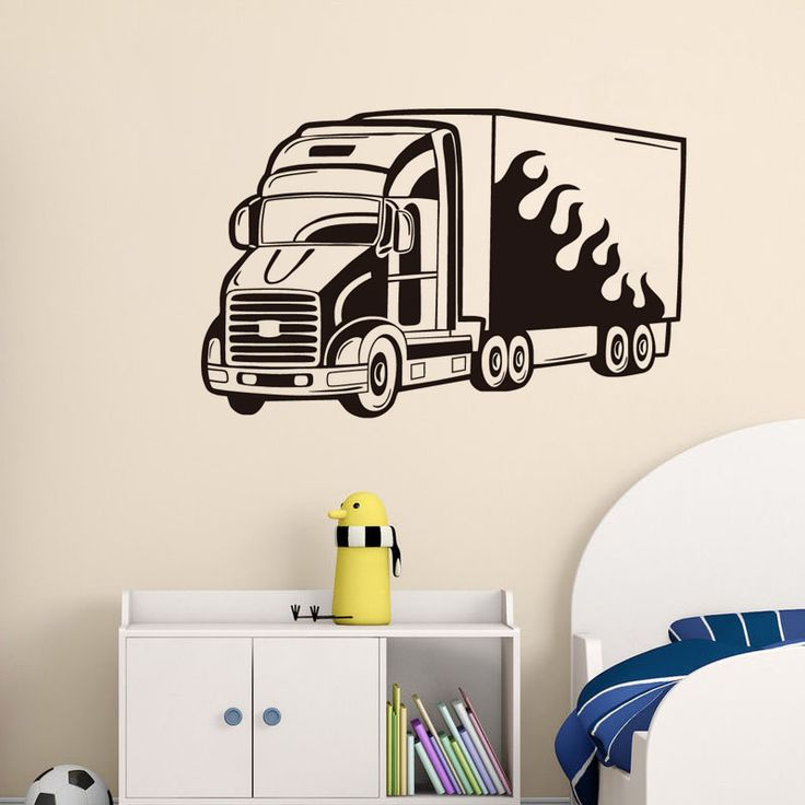 DCTOP Living Room Home Decor Big Truck Vinyl Wall Stickers Removable Modern Design Auto Wall Art Decals Decoration
