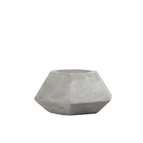 Cement Hexagon Tealight - $9