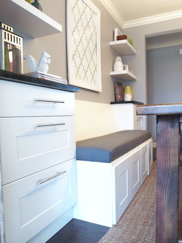 DIY Upholstered Banquette Seat (part one) | Dining room ...