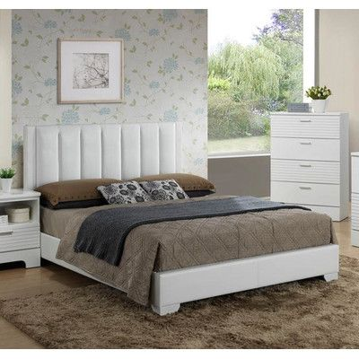 Moderno Upholstered Panel Bed Size: Twin, Color: White - http://delanico.com/beds/moderno-upholstered-panel-bed-size-twin-color-white-623928809/