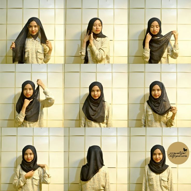 Square Hijab Tutorial, Simple Chic Style.