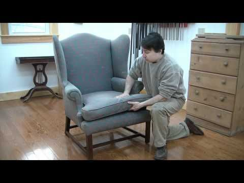 Reupholster A Wing Chair - great tutorial from mjamsden furniture (I just watched all 23 chapters!)