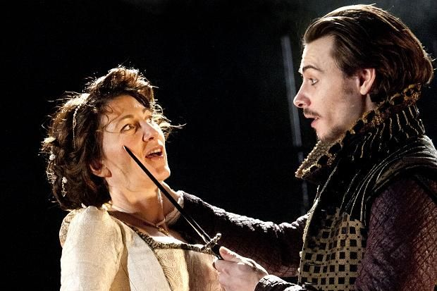 2012 - Eve Best as the Duchess and Harry Lloyd as Ferdinand in 'The Duchess of Malfi' @ the Old Vic