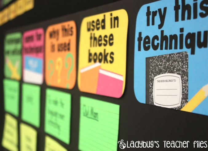 Author's technique board printables.  Great to get the kids thinking about why the author is doing what they are doing.
