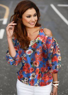 blusa ombro vazado estilo cigana