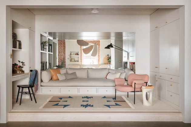 10 Small Living Room Ideas To Make 300 Square Feet Feel Like A Mansion Hunker In 2020 Built In Sofa Small Living Rooms Interior Design