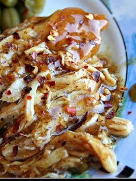 Garlic & Brown Sugar Chicken - crockpot slow cooker recipe-