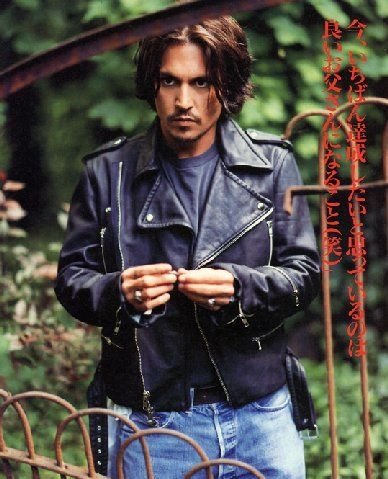 Johnny Depp lovely in leather                                                                                                                                                      More