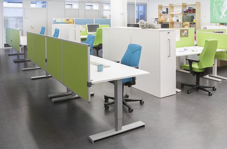 Suomen Luonnonsuojeluliiton toimistotilat ovat värikkäät ja viihtyisät #toimisto #design
