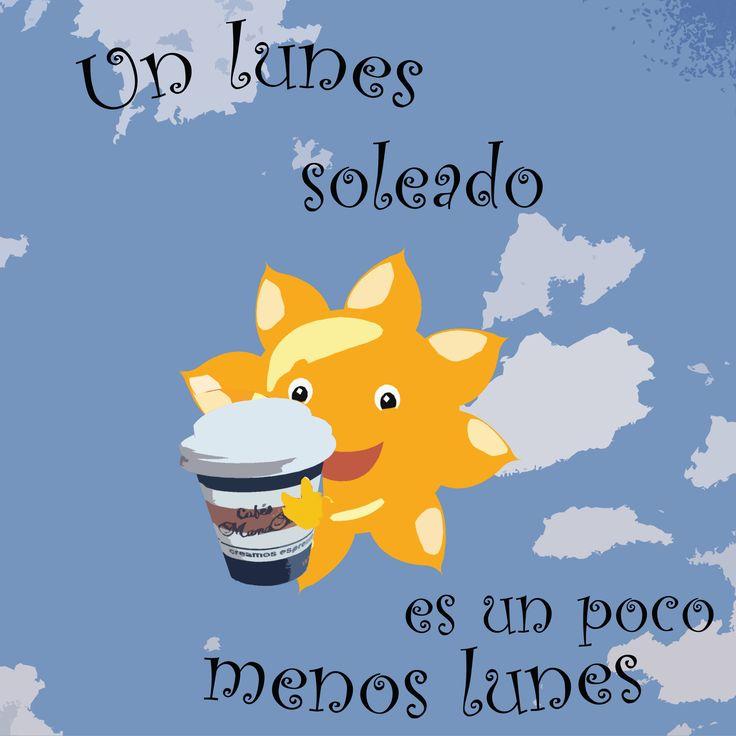 Un lunes soleado es un poco menos #lunes. ¿No creéis? #cafe #coffee #monday