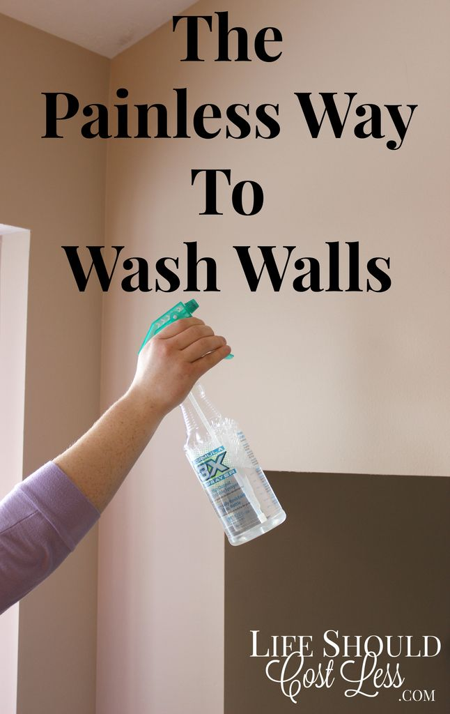The Painless Way To Wash Walls. This great cleaning tip will save you a ton of time AND headache. It's especially helpful if you have tall walls or vaulted ceilings One of our all time most popular pins!. See full cleaning tutorial & other awesome DIY tips at  http://lifeshouldcostless.com