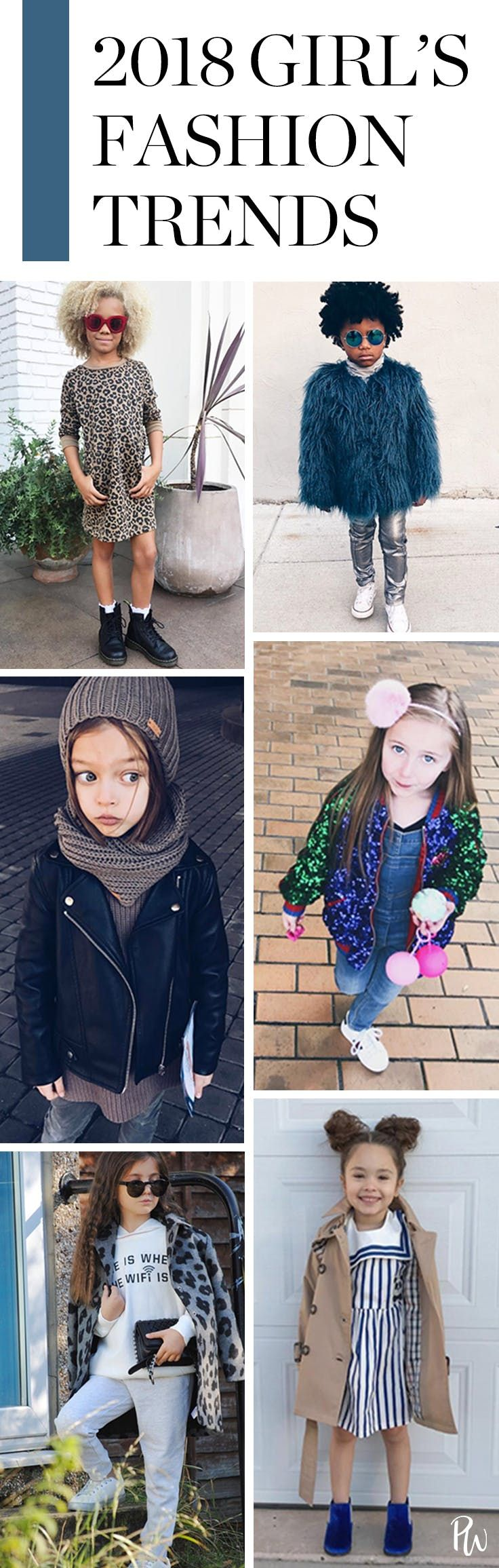 The Hottest Girls' Fashion Trends for 2018 #purewow #family #fashion #children