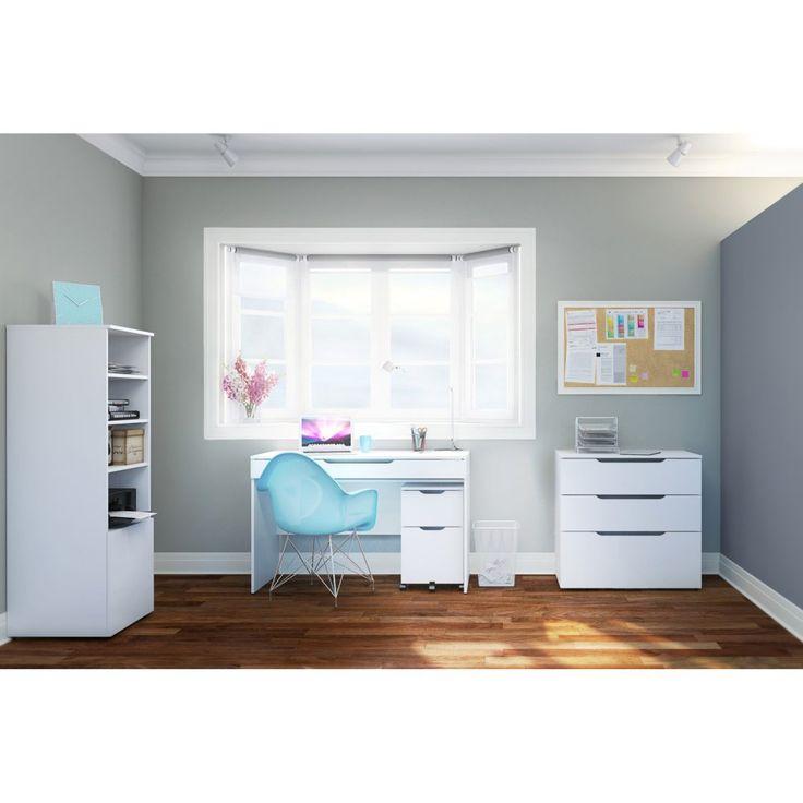 Nexera Arobas 3 Drawer File Cabinet - White - The Nexera Arobas 3 Drawer Filing…