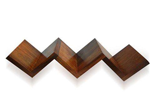 zigzag de madera hecho a mano de londres stylla flotante de la pared estante de libro