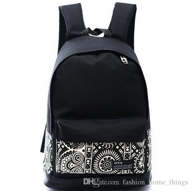 Boys #Backpacks New Fashion Printing Women Men'S Canvas Backpack Schoolbag School Bag For Goy Girl Teenagers Ladies Casual Travel Backpacks Bags Targus Backpack From Fashion_home_things, $11.51| Dhgate.Com