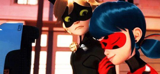 Imagen de Chat Noir, gif, and miraculous ladybug
